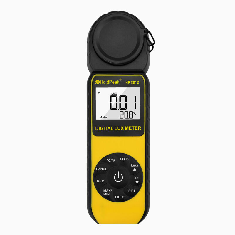 Digital LCD Lux Light Meter with 0.01-400,000 Lux Luminance Tester Handheld 270°
