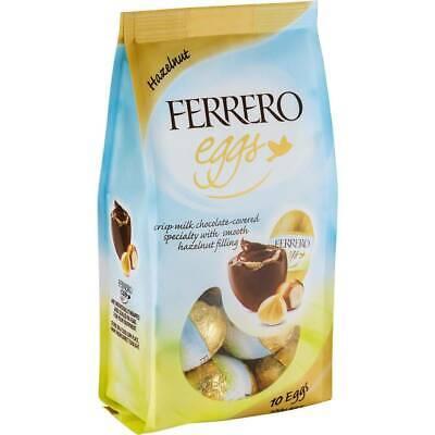 FERRERO EGGS - HAZELNUT - DELICIOUS -3.5 oz  5 bags -best by date (Best Chocolate Easter Eggs 2019)
