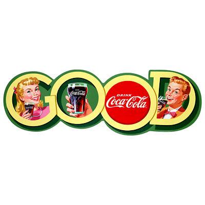 Coca-Cola Good Soda Fountain Couple 1950s Wall Decal Restaurant Kitchen Decor