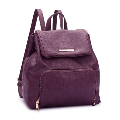Dasein Women Handbags Faux Leather Backpack Student Schoolba