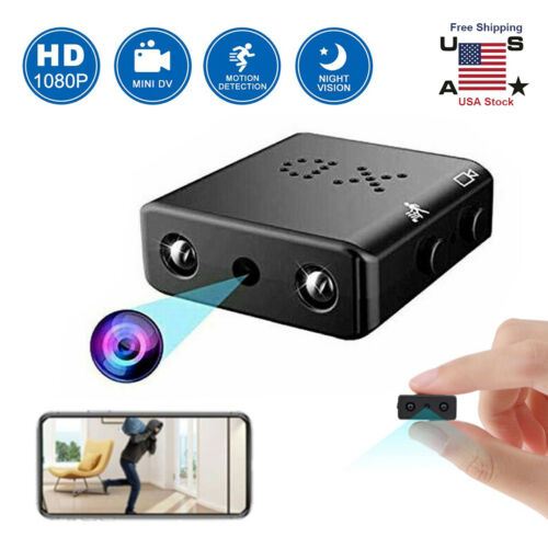 Full HD 1080P Mini Hidden Spy Camera Night Vision Motion Sec