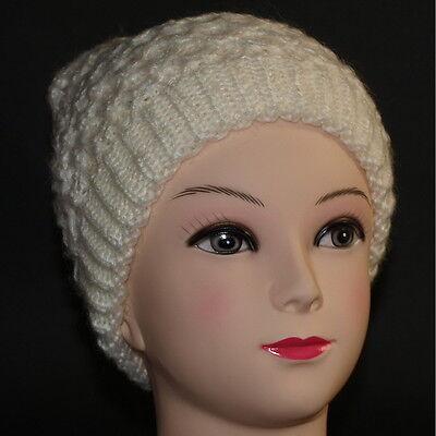 50 Damen Mütze (Mütze Beanie Strickmütze Winter Damen Mützen ohne Bommel Weiß M50)