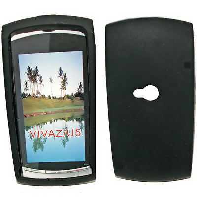 Silikon TPU Handy Cover Case Hülle in Schwarz für Sony Ericsson Vivaz - U5 Handy Cover Sony Ericsson