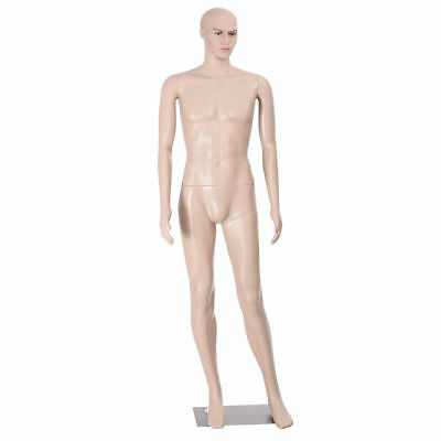Full Size Realistic Male Mannequin Metal Stand Base Makeup Detachable Body Parts