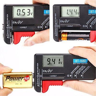 Digital Battery Capacity Tester LCD for 9V 1.5V AA AAA Cell C D Batteries  Lcd Battery Tester