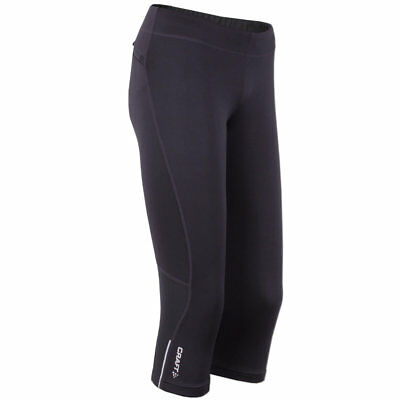 3/4 Capri Tight (Craft Damen 3/4 Laufhose Active Run Capri Tight Lauftight Running Hose schwarz)