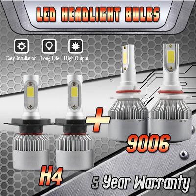 9003 H4 LED Headlight + 9006 Fog Bulb for Toyota Tundra 2000-2006 RAV4 2001-2005 2000 Toyota Rav4 Headlight