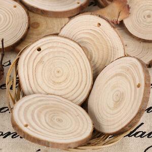 50 Round Wooden Wood Log Slice Natural Tree Bark Table Decor Wedding Centerpiece