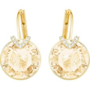 Gold Bella V Swarovski earrings