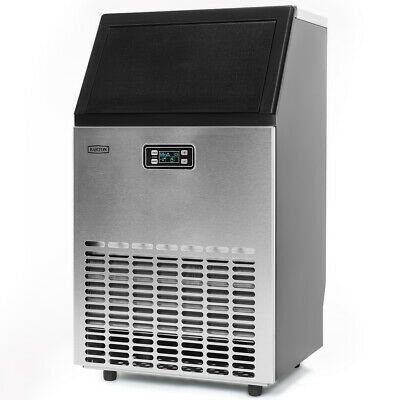 Stainless Steel Commercial 99Lbs Undercounter Ice Maker Machine Air Cooled Cube