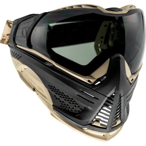 Push Unite Classic Thermal Paintball Goggle Goggles Mask - Black / Tan