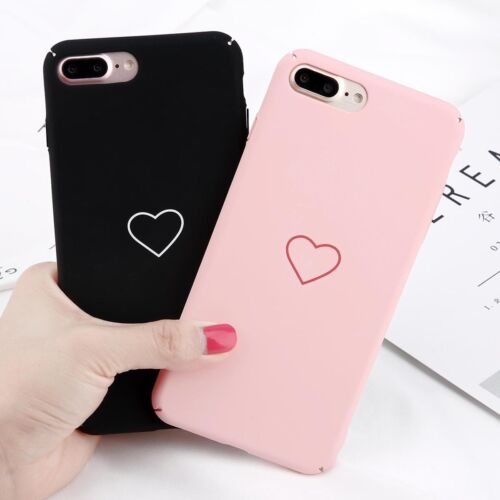 Love Heart Painted Hard PC Phone Case Cover Skin For iPhone X 6s 7 8 Plus