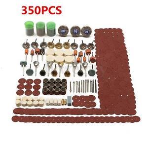 350pcs Set Rotary Tool Accessory For Dremel Grinding Sanding Polishing Kit New