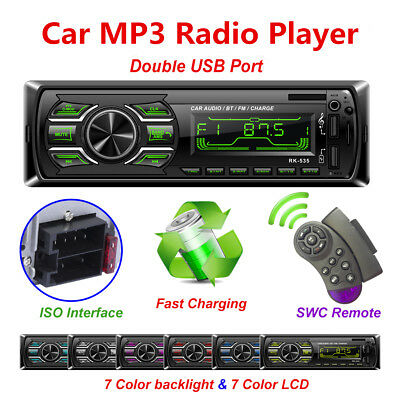 Bluetooth Hands-free Car Radio Stereo Audio USB AUX MP3 Player+Remote Control Mp3 Player Tempo Control