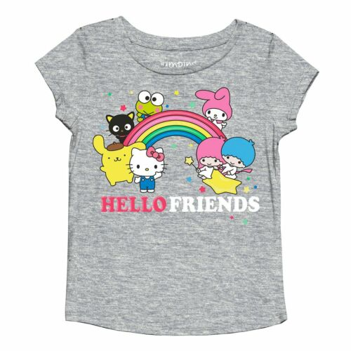 HELLO KITTY AND FRIENDS TODDLER GIRLS SHIRT SIZE 2T 3T 4T 5T NEW!