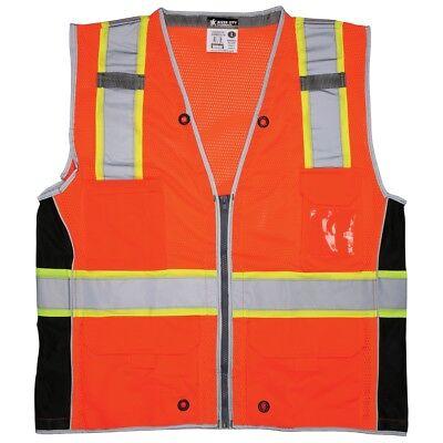 River City Class 2 Reflective Mesh Surveyor Safety Vest Orange