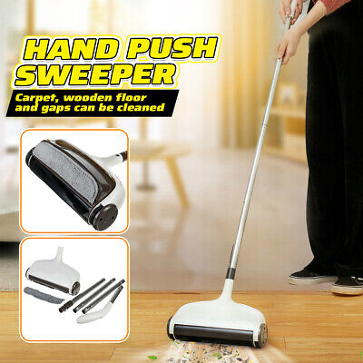 Cordless Hand Push Sweeper Mop Household Indoor Floor Dust Cleaning Tool Home Floor Cleaning Sweeper Tool