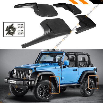 Jeep Wrangler Mud Flaps 2007-18 JK JKU Guards Splash Flares 4 Piece Front & Rear
