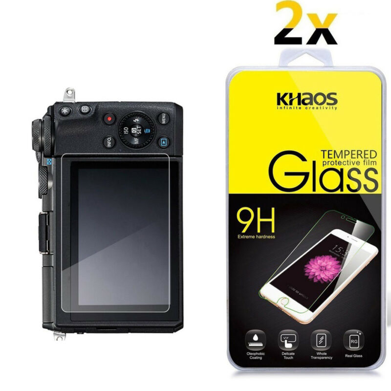 2-Pack Khaos For Canon EOS M100 Tempered Glass Screen Protector