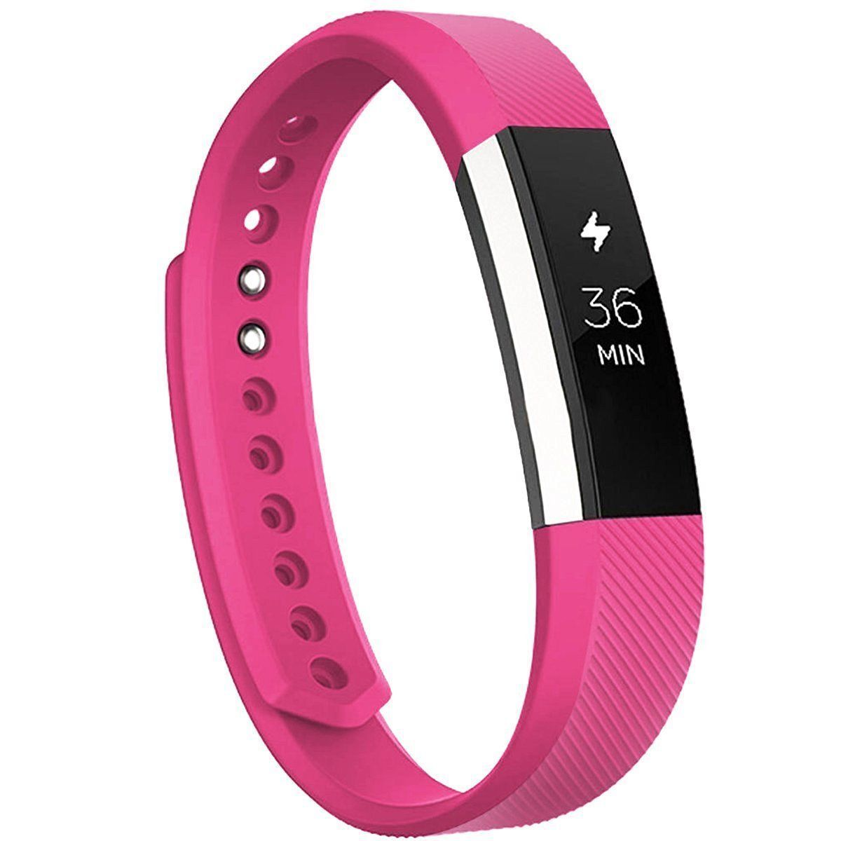 Replacement Silicone Wrist Band Strap For Fitbit Alta/ Fitbit Alta HR Hot Pink