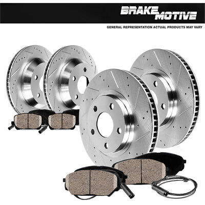 Front+Rear Brake Rotors & Ceramic Pads For 2008 2009 2010 BMW 328i 328xi xdrive