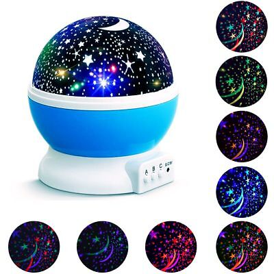Night Light Star Moon Projector 360  Rotating Led Lamp Romantic Cosmos Kids Gift