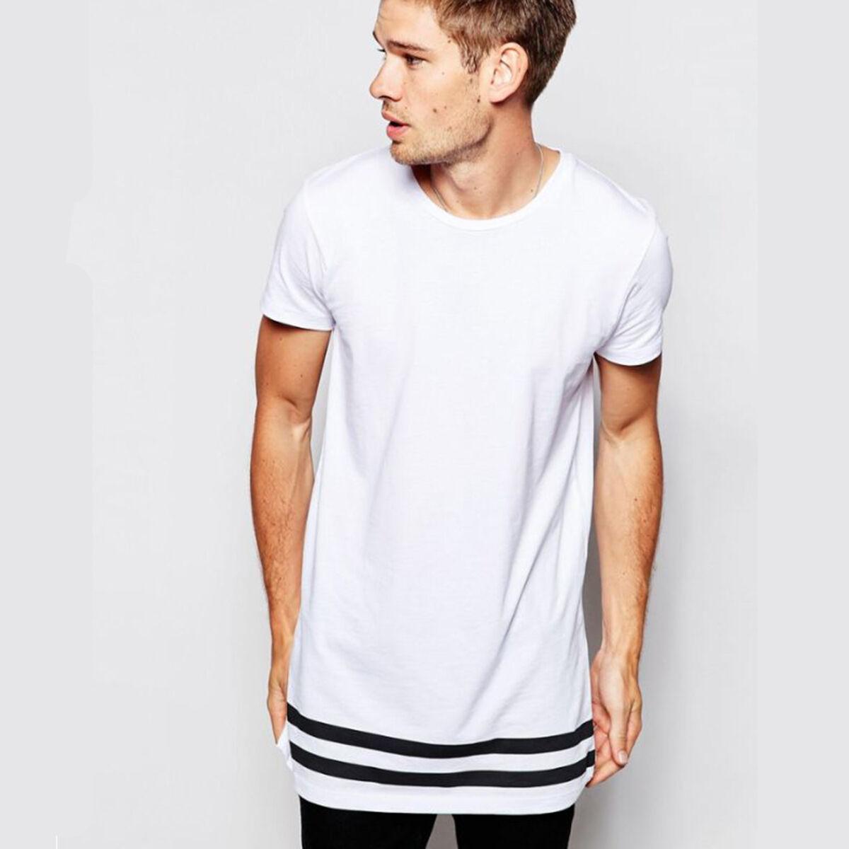 b098790e5 Size Type:Regular Sleeve Length:Short Sleeve Pattern:Striped Striped:Hip  hop. Size (Men's):S,M,L,XL,2XL Color:Black,White Package:1 Men T Shirt