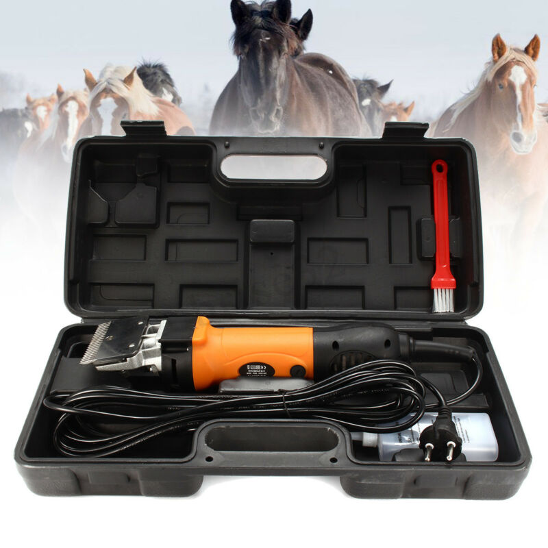 320W Horse Clipper Shearing Machine Grooming Blade Brush Heavy Carry Case