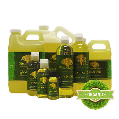 Premium Grapeseed Oil Pure&Organic Fresh Best Quality Skin Care Face Nails Hair (Best Organic Grapeseed Oil For Skin)