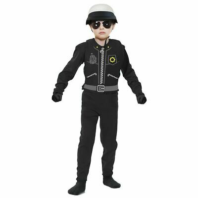 Bad Cop Costume Kids Toddler Police Halloween Fancy Dress NEW