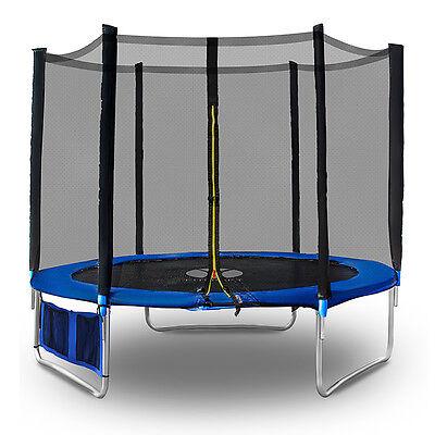 Outdoor Trampolin 244 cm Komplettset mit Sicherheitsnetz Neu Top