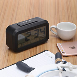 Digital Backlight LED Display Table Alarm Clock Snooze Calendar Thermometer Time