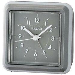 Seiko Alarm Tabletop Clock Ena Quartz Grey QHE182NLH