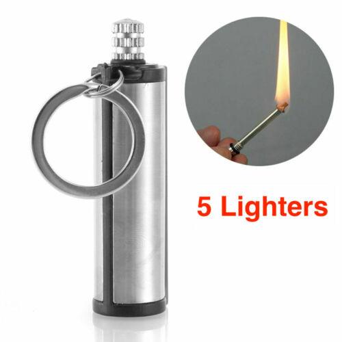 Waterproof Match Permanent Lighter Striker Fire Starter Emergency Survival 5X