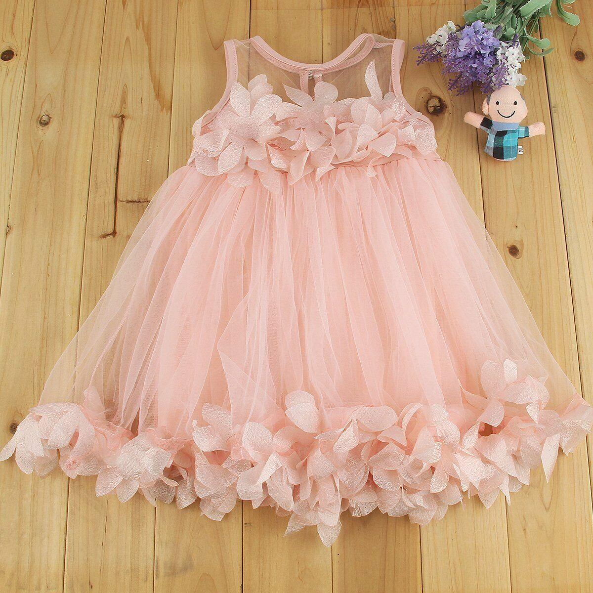 Toddler Kids Baby Girls Lace Dress Princess Party Pageant Holiday Tutu Dresses