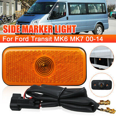 SIDE MARKER LAMP LIGHT WITH WIRING LOOM FOR FORD TRANSIT MK6 MK7