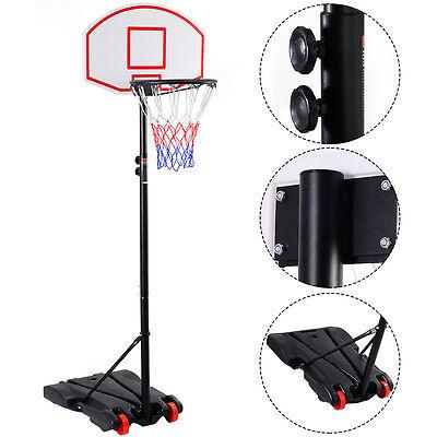 Adjustable Basketball Hoop System Stand Kid Indoor Outdoor Net Goal W  Wheels