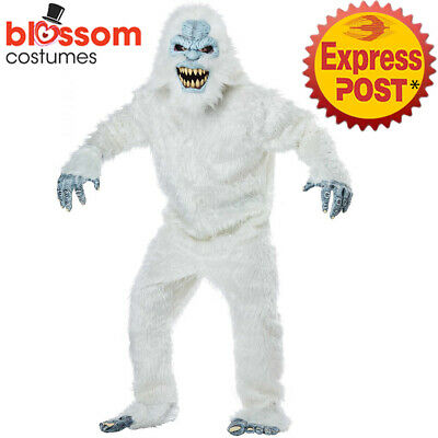 Scary Snowman Halloween Costume (CA900 Snowman Beast Yeti Halloween Monster Scary Costume Outfit Ani Motion)