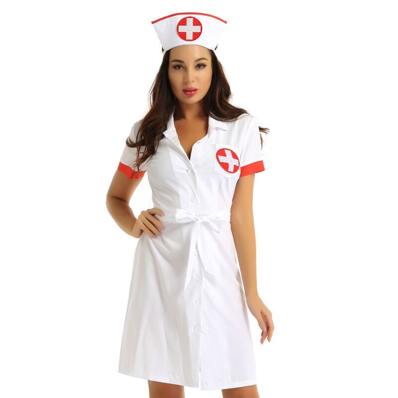 UK Sexy Women Naughty Nurse Uniform Cosplay Fancy Dress