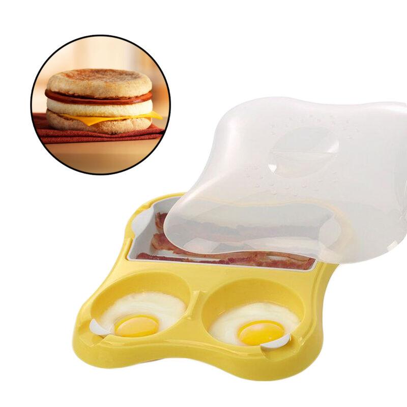 Progressive Microwave Eggs & Bacon Breakfast Sandwich Maker Meat Sausage Pan