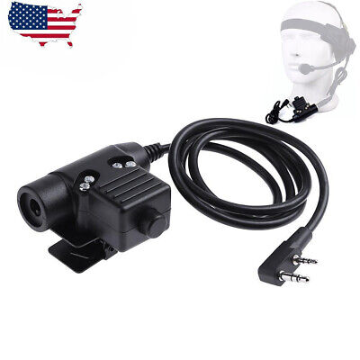 U94 PTT Z-Tactical Military Adapter For TYT KENWOOD F8 BAOFENG 5R RADIO
