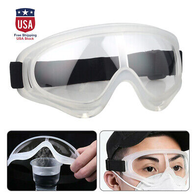1x Safety Goggles Protective Glasses Clear Anti Fog Lens Work Lab Eye Protection