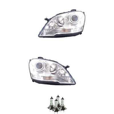 Halogen Scheinwerfer Set H7 für Mercedes-Benz M-Klasse inklusive Lampen