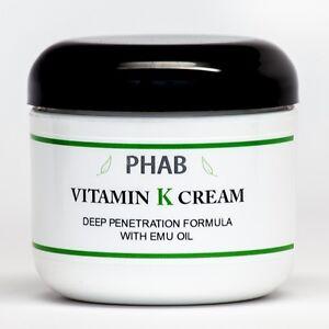2oz - Vitamin K Cream - Thread Spider Varicose Veins Scars Rosacea Capillaries
