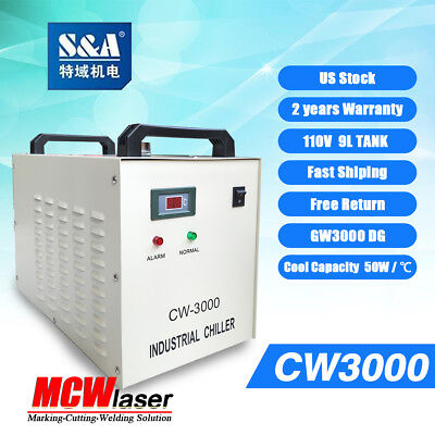 Genuine Sa Cw-3000dg Water Chiller 110v Cool 50w 60w 80w Co2 Laser Tube Ce Rosh
