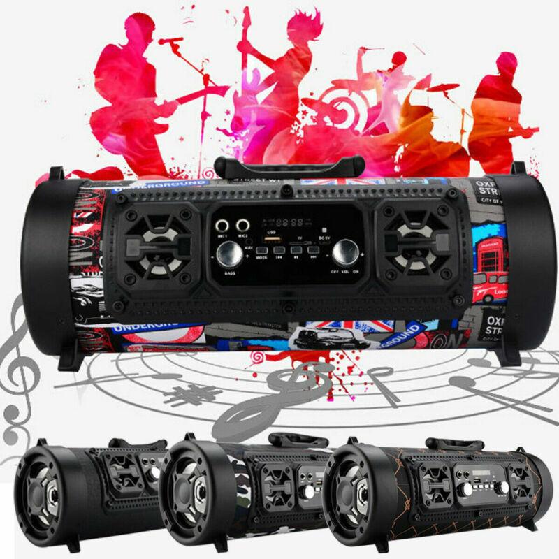 Wireless Portable bluetooth Speaker Super Bass Stereo Radio HIFI FM TF AUX USB