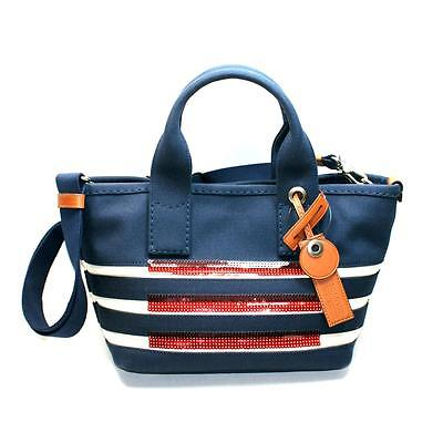 (Marc By Marc Jacobs New Prussia Blue Canvas Small Tote/ Crossbody #M0007856 $248)