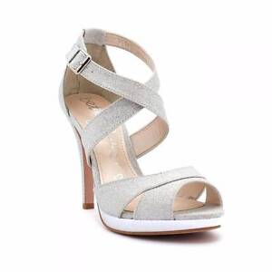 Betts BLISSFUL Silver Strappy Heel - Size 8 Zillmere Brisbane North East Preview