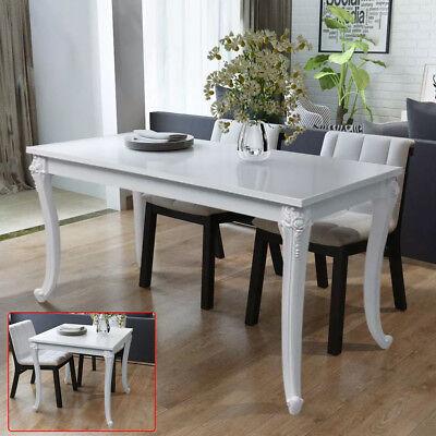 Esstisch Esszimmertisch Küchentisch Hochglanz Weiß Quadratisch Barock 2 Größe DE - Quadratisch Esstisch