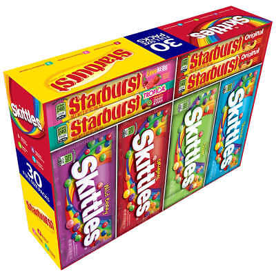 Skittles & Starburst Variety Pack Candy 30-count